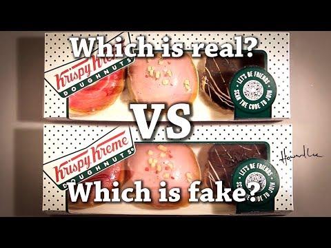 Fun Test: Which is real? Krispy Kreme Donut Drawing Challenge!