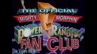 Mighty Morphin Power Rangers Fan Club Commercial (1994)