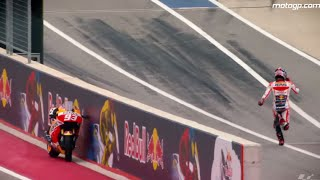 Unforgettable moments of the MotoGP 2015 - Marc Marquez Ran Without His Motorcycle