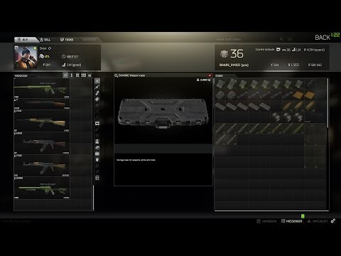 ESCAPE FROM TARKOV Level 4 skier sells the weapons case for euros and sells euros for rubles.