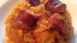 Stewed Sauerkraut With Kielbasa