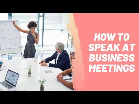 How to Speak at Business Meetings