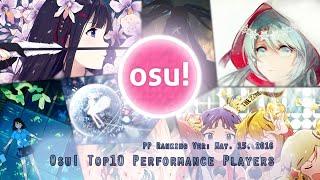 Osu! Top 10 Performance Players (May 15. 2016)