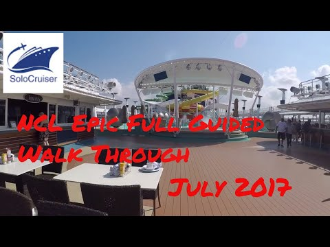 NCL Epic full guided ship tour July 2017