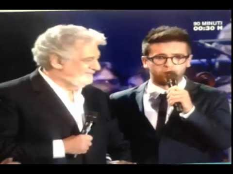 Il Volo & Placido Domingo singing in Real Madrid  Bernabeu 29  6  2016