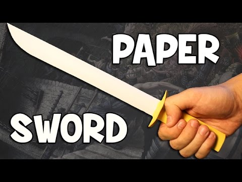 How to make a paper sword   Easy and Fast