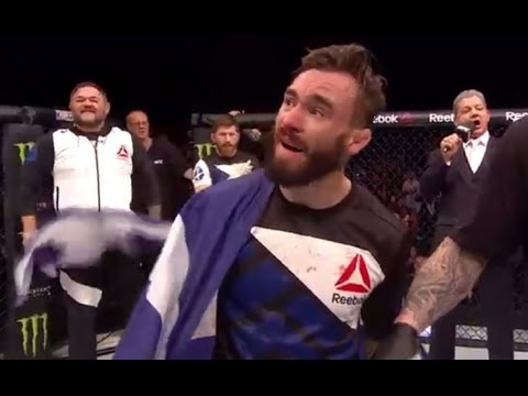 Fight Night Glasgow: Scotland's Robert Whiteford's Post-Fight Celebration