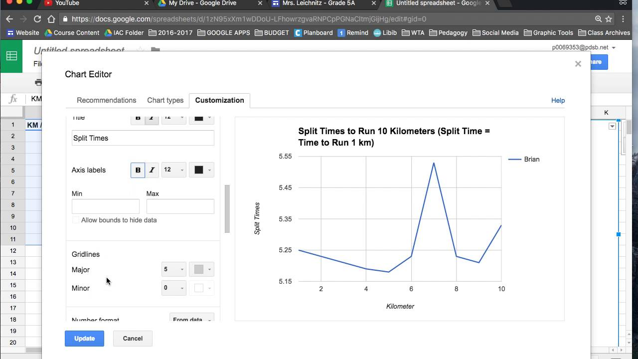 hight resolution of Broken Line Graph on Google Sheets - YouTube