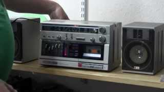 Aiwa CA-30 3 piece Stereo radio cassette 5 band eq boombox unboxing & Playing