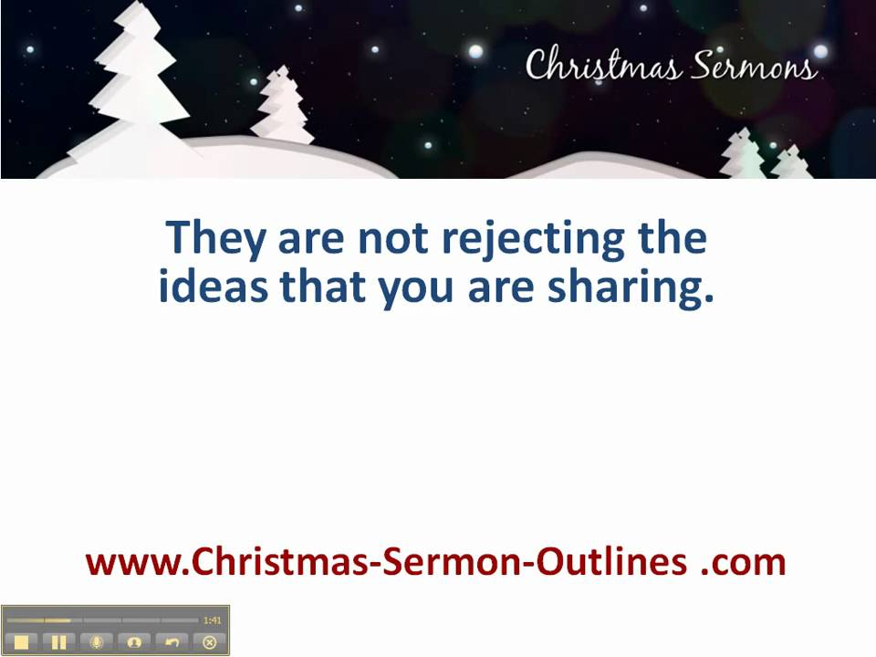 christmas message outline