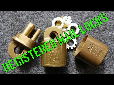 (1034) Antique Registered Mail Lock (Thanks LPL!)