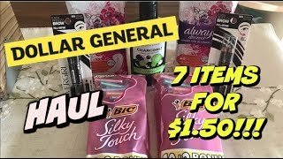 DOLLAR GENERAL HAUL 8/18/18 | 7 ITEMS FOR $1.50!!!