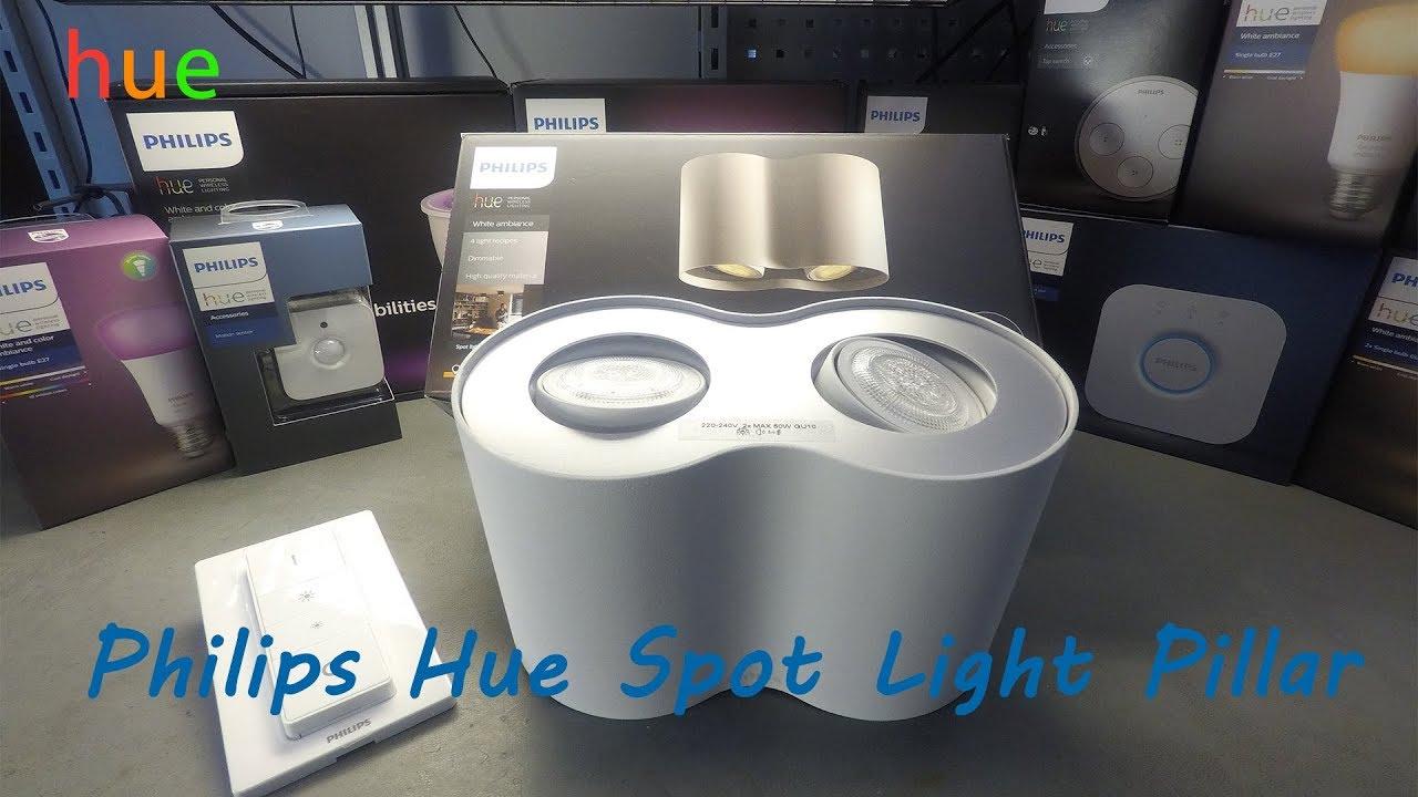 philips hue spot light pillar unboxing youtube. Black Bedroom Furniture Sets. Home Design Ideas