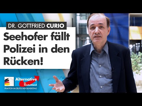 """""""Seehofer fällt Polizei in den Rücken!"""" - Dr. Gottfried Curio - AfD-Fraktion im Bundestag"""