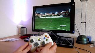 Microsoft Xbox 360 Controller (PC) ~ Erster Test mit Fifa 11
