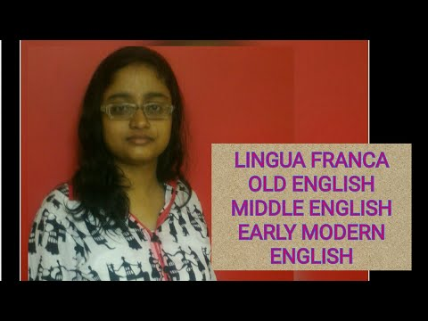 THE HISTORY OF ENGLISH LANGUAGE -1 | IN HINDI | OLD,MIDDLE & EARLY MODERN ENGLISH||