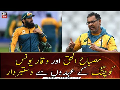 Download Misbah, Waqar step down as national team coaches