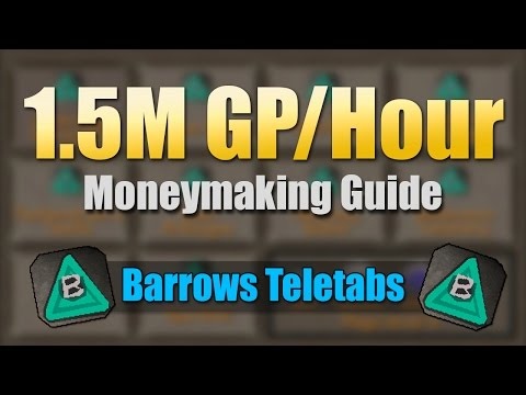 OSRS] INSANE 1 5M GP/Hour Moneymaking Method (Barrows Teleport Tab