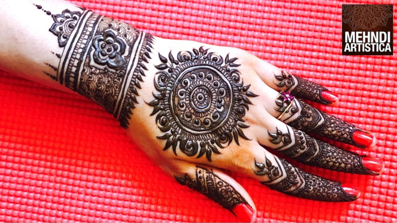 Traditional Heavy Mandala Mehndi Design For Hand Requested Mehandi