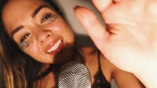 💋 ASMR Touching your face 💋 Inaudible • Personal attention • Mouth sounds • Finger tracing