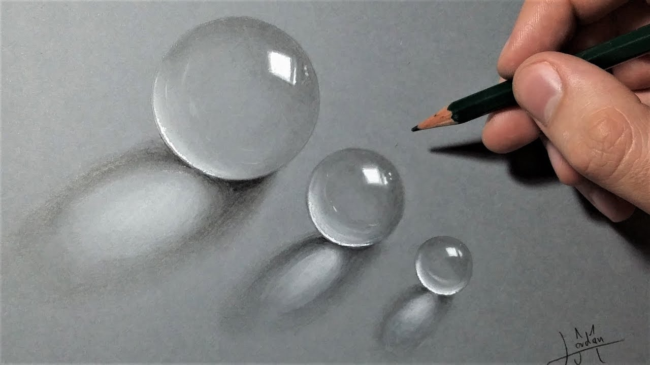 How To Draw Transparent Balls Realistic Tutorial