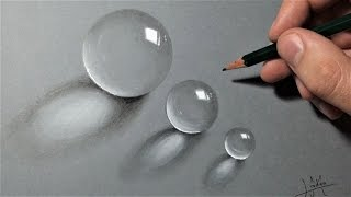 How to draw transparent balls Realistic [Tutorial]
