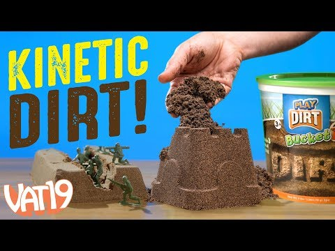 Kinetic Soil: Fake Dirt You Can Play With Indoors!