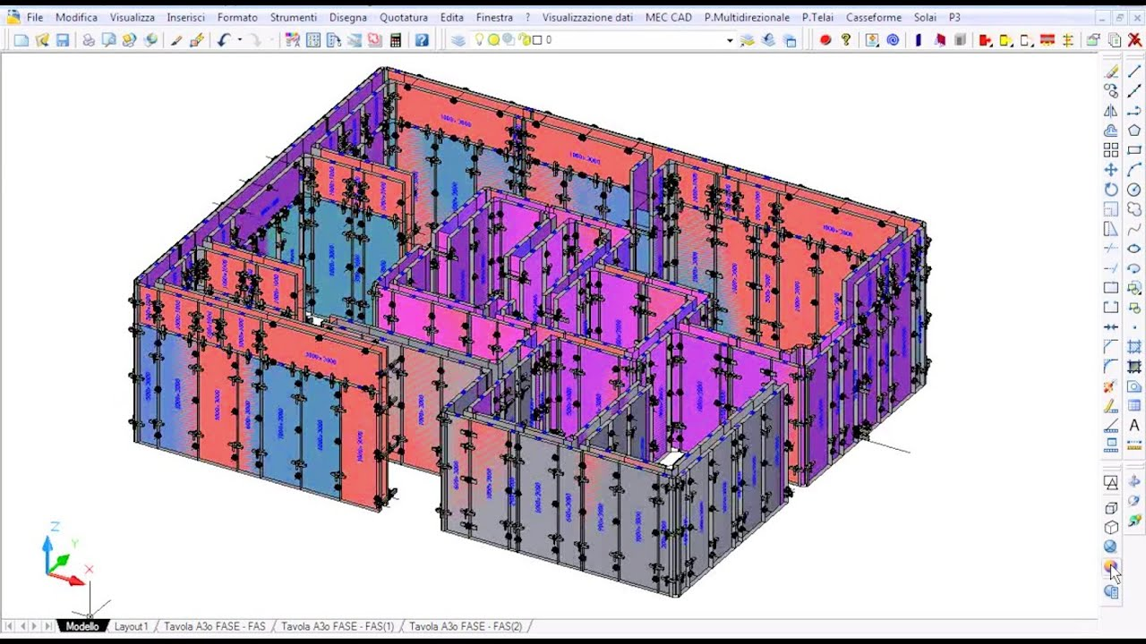 Formworks Design With For Cad 2010 Youtube