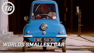 The Smallest Car in the World at the BBC - Top Gear - BBC(Jeremy drives the Peel P50, the world's smallest production car to work at the BBC and meets a few famous faces along the way. Subscribe for more awesome ..., 2008-12-06T02:23:57.000Z)