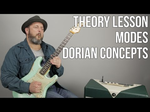 Lead Guitar Theory - Dorian Mode and Pentatonic Scale