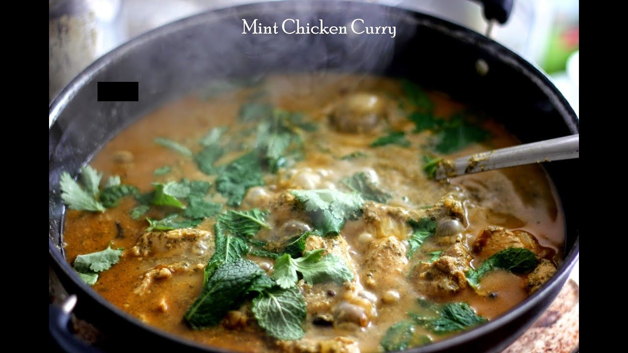 Podine Ka Salan How To Cook Mint And Chicken Curry Indian Style