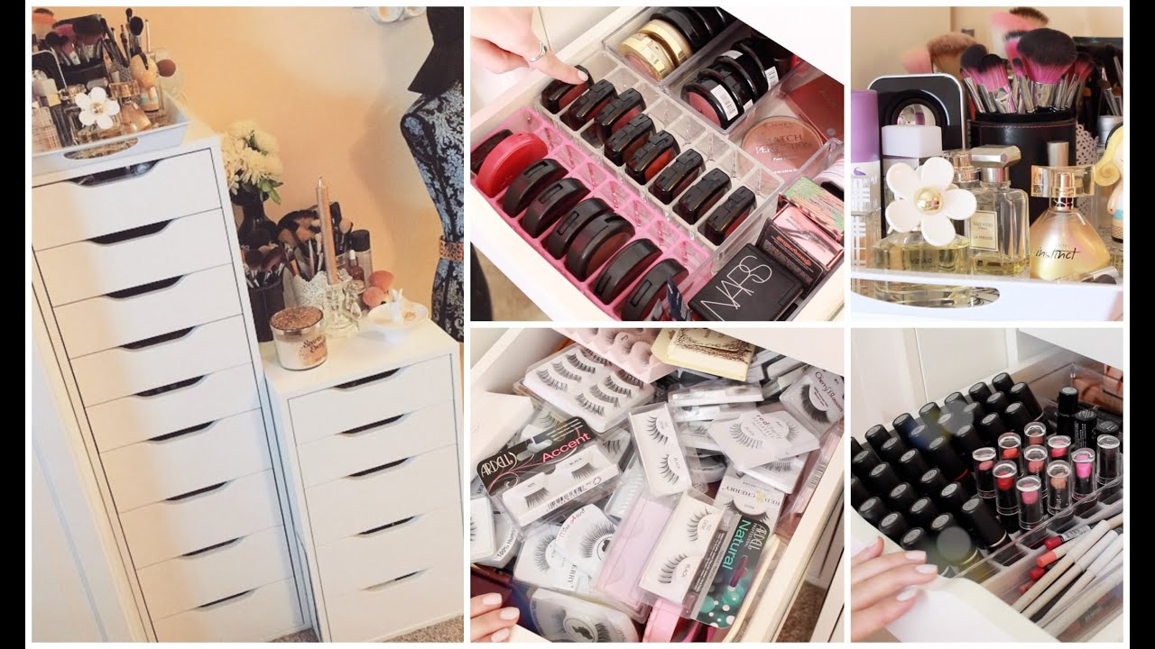 2015 Makeup Collection Storage Gettingpretty Youtube