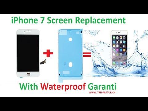 iPhone 7 Screen Replacement with Waterproof Garanti HD