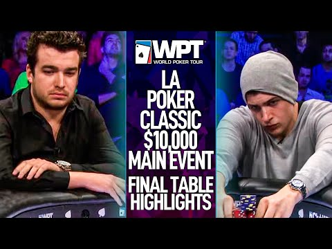 Epic Final Table L.A. Poker Classic WPT $10,000 Main Event Highlights