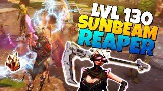 LVL 130 SUNBEAM Reaper Scythe + LVL 130 Harvester Sarah | Fortnite Save The World