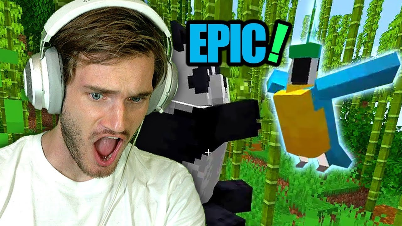 Image result for pewdiepie playing minecraft