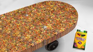 Download I Built A Skateboard Out Of 10,000 Colored Pencils Mp3 and Videos