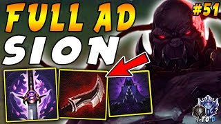 Full Lethality + AD SION TOP = Insane One Shots! Challenger Thebausffs Build | Iron IV to Diamond 51