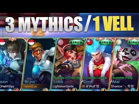 Mobile Legends: 3 Mythics and 1 Ask VeLL! My Bruno Unstoppable Build Is The Best