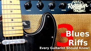 3 Blues Riffs Every Guitarist Should Know!