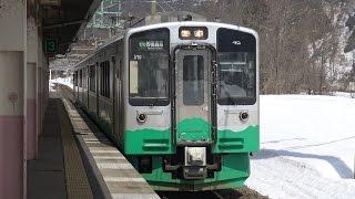 【4K】妙高はねうまラインE127系電車 V10編成 妙高高原駅到着