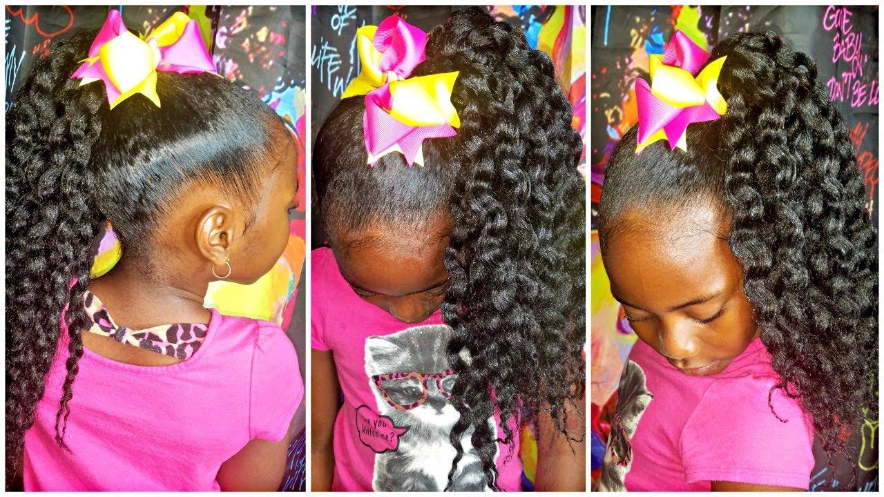 Crochet Slick Ponytail Children S Natural Hair Youtube