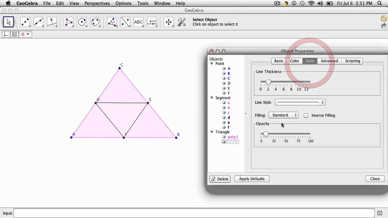 Geogebra - Custom Sierpinski Triangle Tool