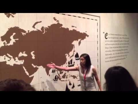 Tour Guide Inside the National Museum Singapore