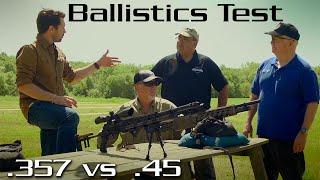 Ballistic Test 357 vs 45 - 2015 Episode Five Part Three - American Airgunner