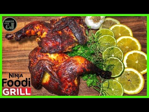 ninja-foodi-grill-roasted-whole-chicken-|-spatchcocked-chicken-|-ninja-foodi-grill-recipes