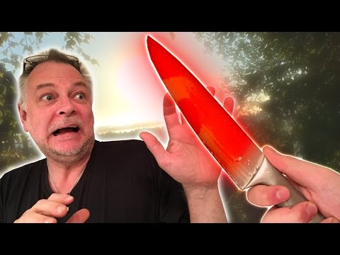 EXPERIMENT Glowing 1000 degree KNIFE VS PAPANOMALY