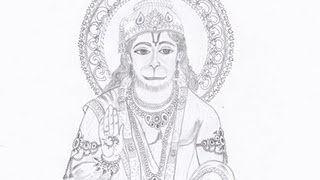 Drawing Lord Hanuman