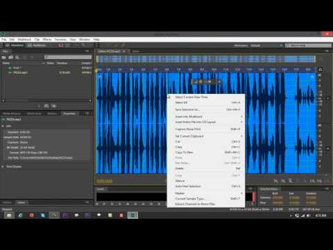 Convert MP3 to FLAC Using Adobe Audition CS6