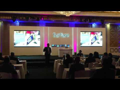Microsoft Surface launching event in QATAR created by Doha Media Services